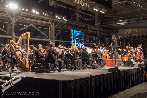 Oakland Symphony playing at the Craneway Pavillion.