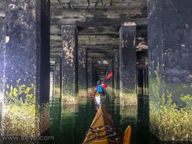 Thursday Paddle. Under the Craneway Pavilion.