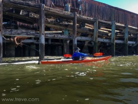 Paddling along the waterfront near Point San Pablo.