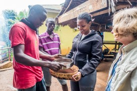 Sifting the ground coffee. Chagga Culture and Coffee