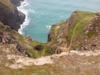 Cliff path to mine shaft, Cornwall
