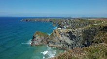 Cornish cliffs and the Atlantic Ocean