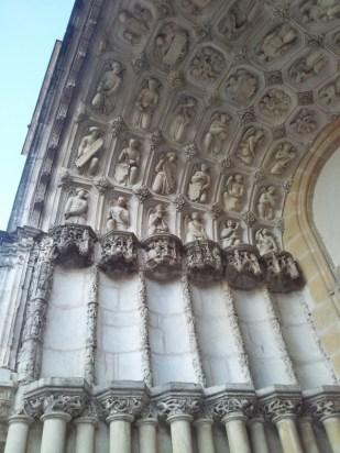 Church doorway in Dijon