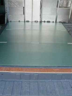 Insulation sheets covering whole floor