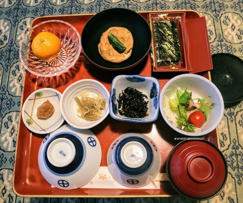 Colazione nel tempio Ekoin - Koyasan