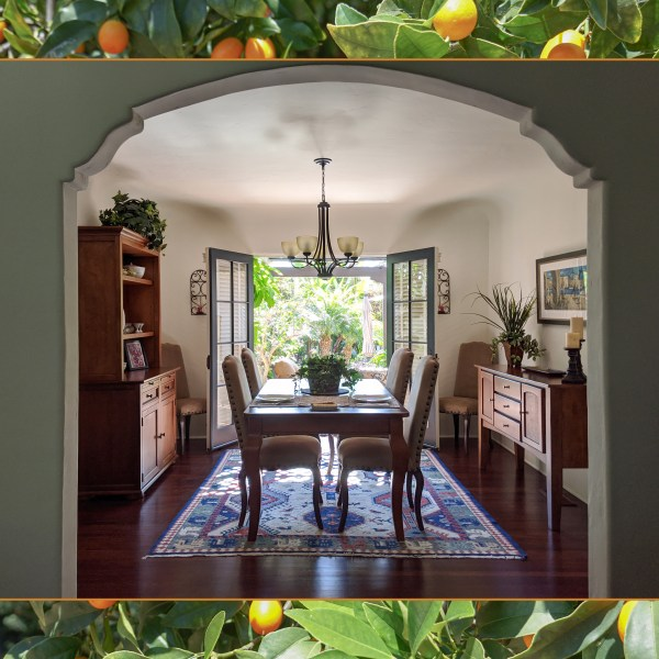 A breezy dining room