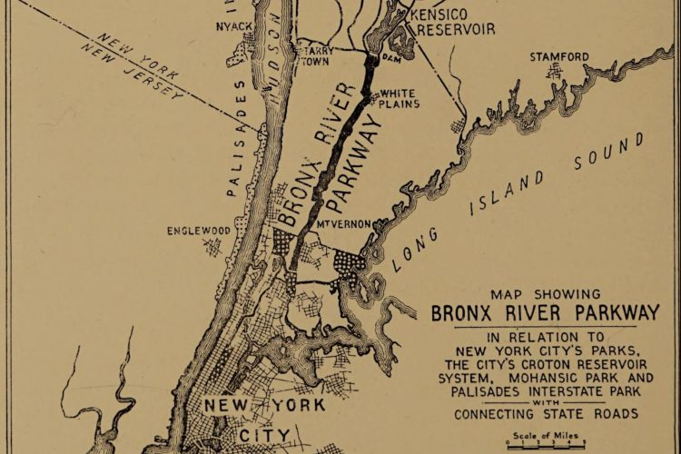 Bronx River Parkway Map 1922