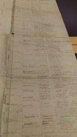 Handwritten family tree