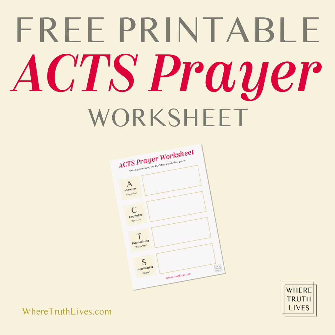 How To Use The Acts Prayer To Help You Pray