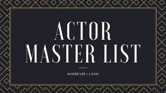 Actor Master List