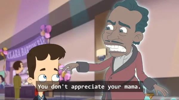 Duke Ellington noting that Nick doesn't appreciate his momma.