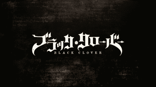 The title card of Black Clover