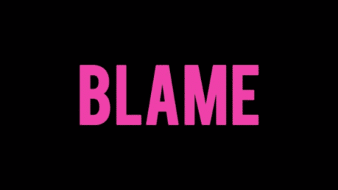 Title Card for the movie Blame