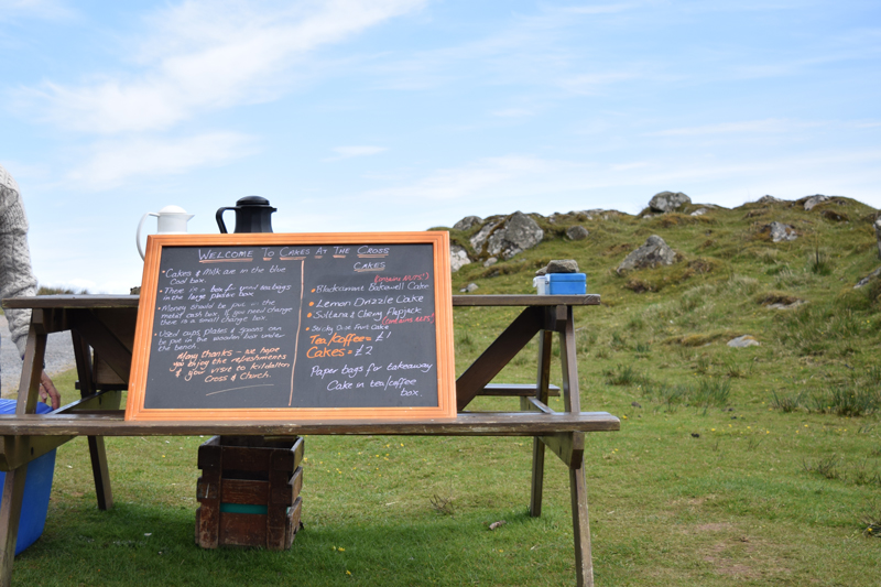 17a-Cakes-at-Kildalton-Cross-Cafe---Honor-System---Christmas-Cakes-Tea-and-Coffee-in-Islay-Scotland