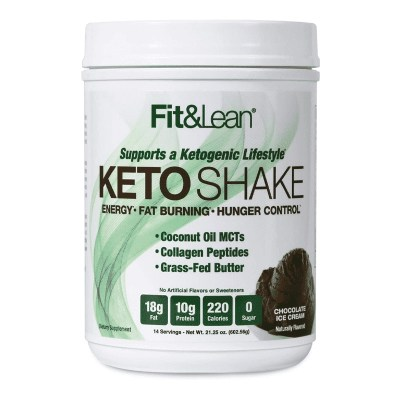 keto shake chocolate ice cream fit and lean