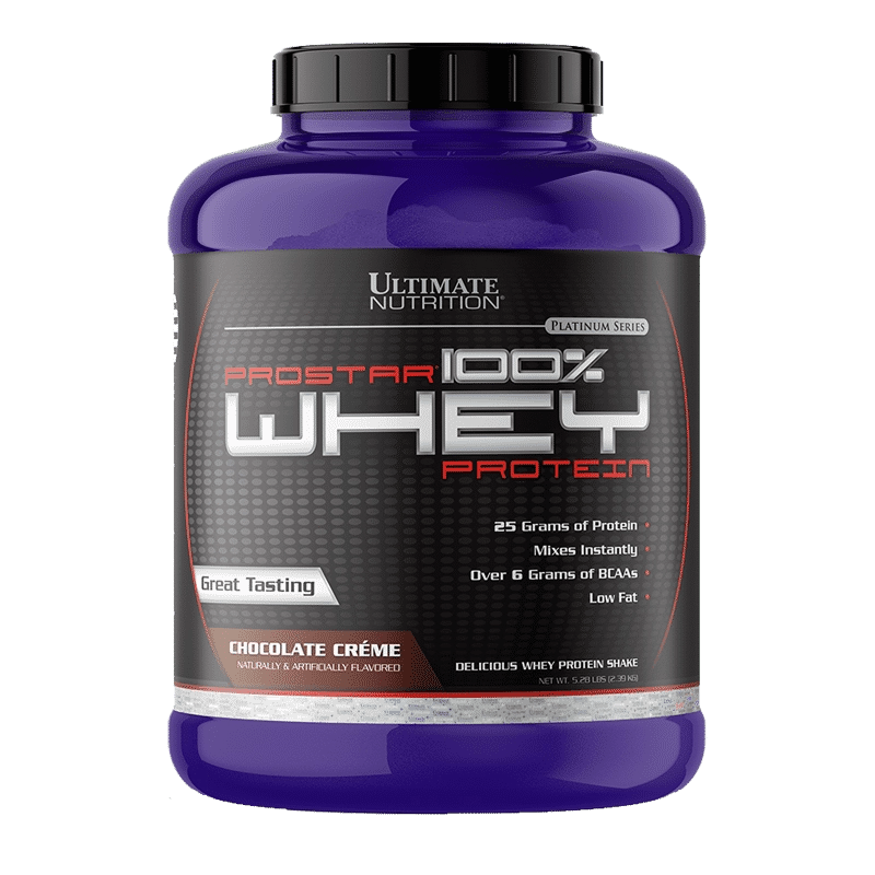 prostar100% whey protein chocolate creme ultimate nutrition