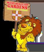 mascot holding sign