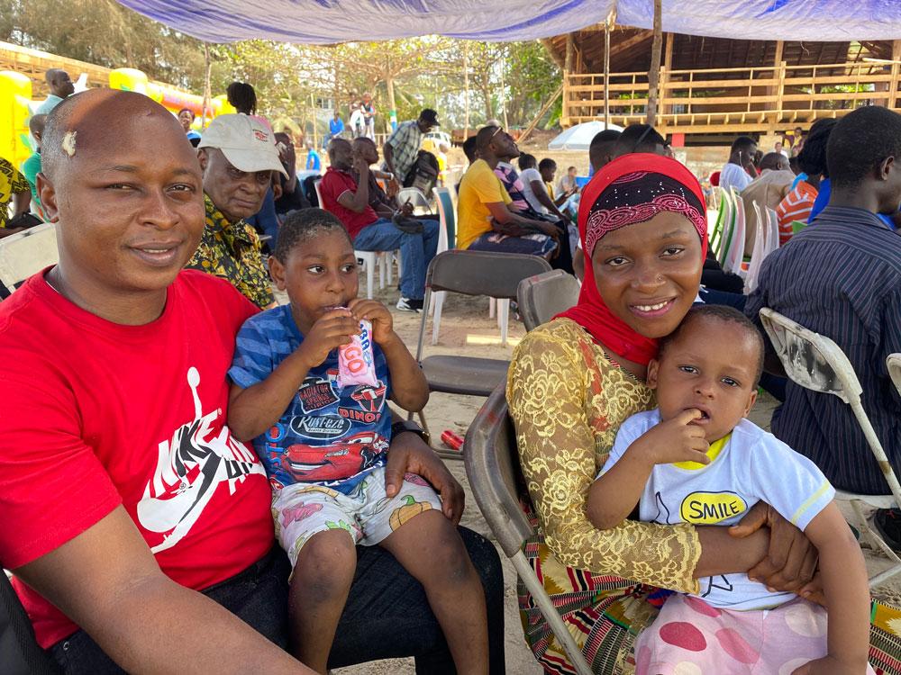 ETC Beach Day 2020 - a family of four smiles