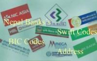 Nepal banks swift codes