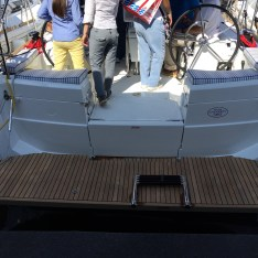 Jeanneau Sun Odyssey 389 Swim Platform and Boarding