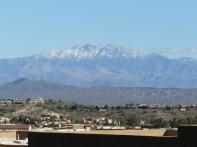 Snow on Four Peaks AZ