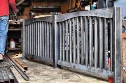 substantial steel railing