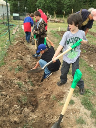 earth day trench composting_1816