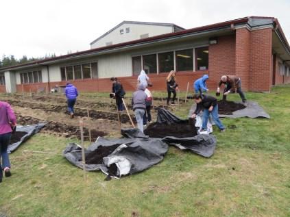 snack garden fifth grade spreading compost_0392 copy