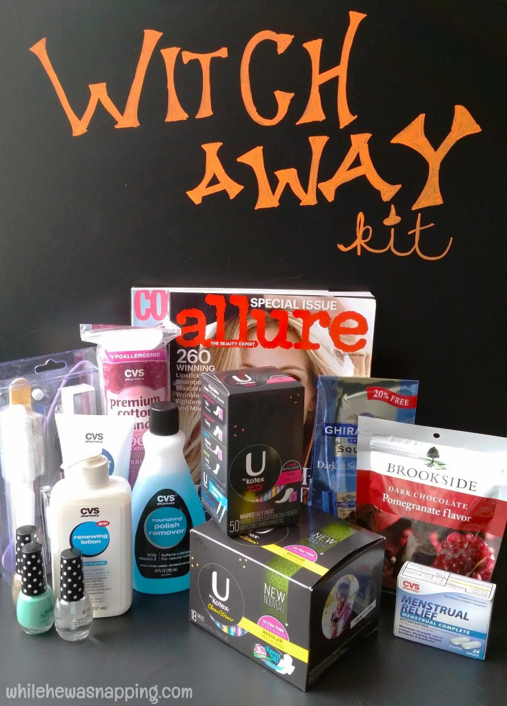 Witch Away Kit With U By Kotex And CVS While He Was Napping