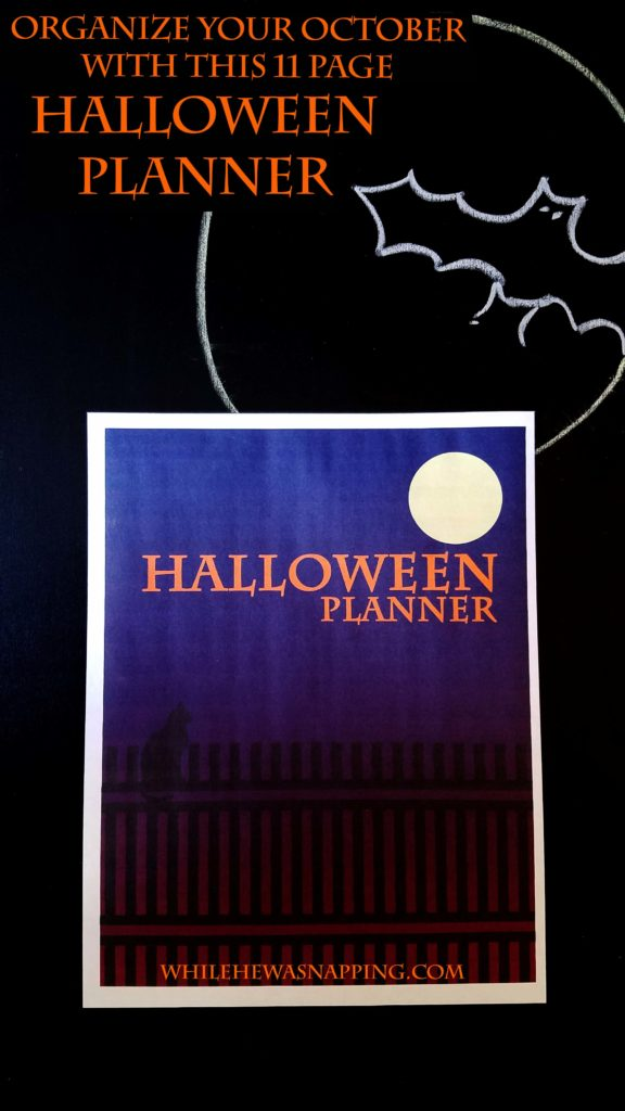 Printable Halloween Planner While He Was Napping