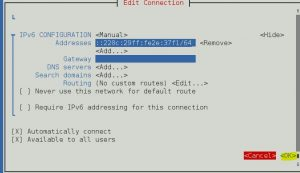 configuring network manager