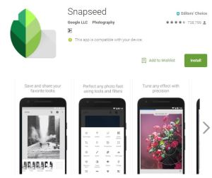 Snapseed: Edit images in seconds