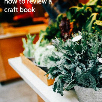 How to Review a Craft Book: A Blogger's Guide