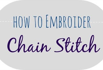 How to Embroider: Chain Stitch