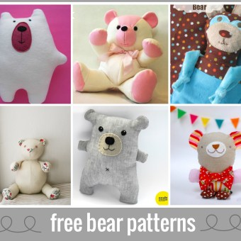Bear Sewing Patterns for the Six Weeks of Love for Softies Contest