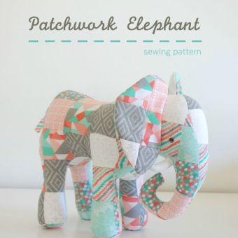 New Pattern: Patchwork Elephant (Plus a Discount on Precuts)