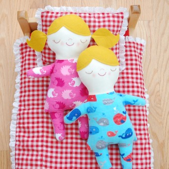 New Pattern: Asleep Awake Doll