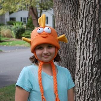 Goldfish Hat from Fleece Hat Friends by Mary Rasch