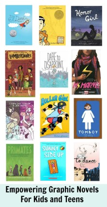 empowering graphic novels for teens, graphic novel, whileshenaps, kids, teen, girl