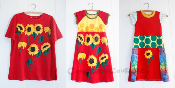 CourtneyCourtney upcycle of t-shirt into dress.