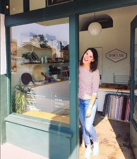 Erin Dollar at Cotton & Flax retail