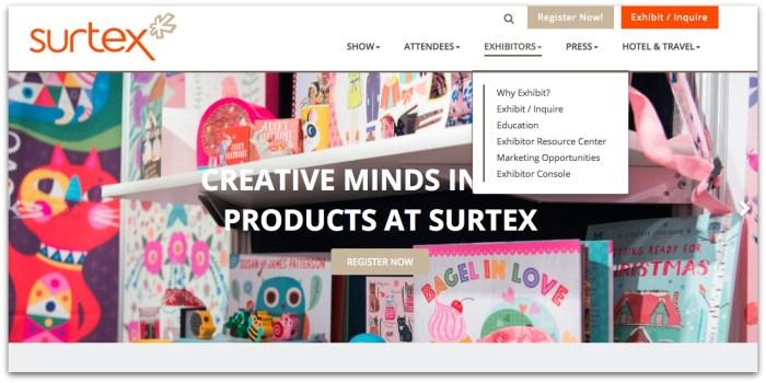Surtex homepage