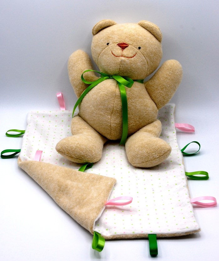 Baby Bear and Blankie Set Abby Glassenberg Design