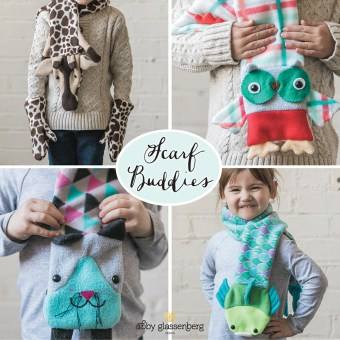 Fleece scarf sewing pattern for kids