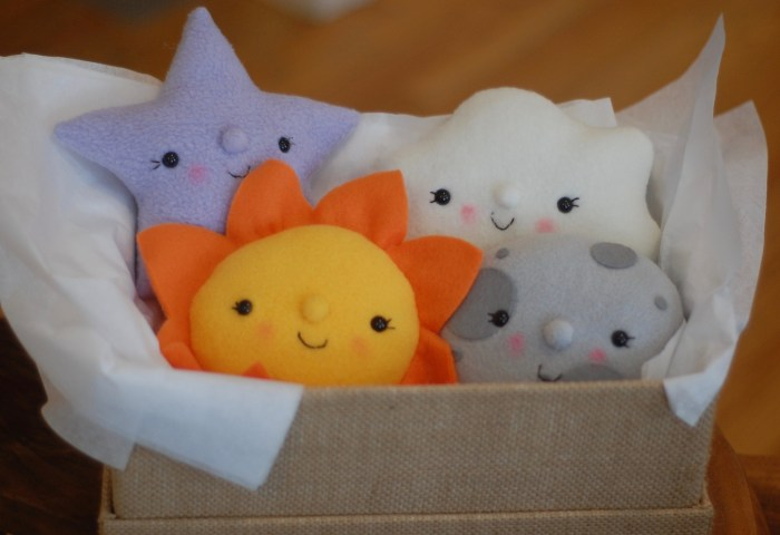 plush sun moon star cloud sewing pattern