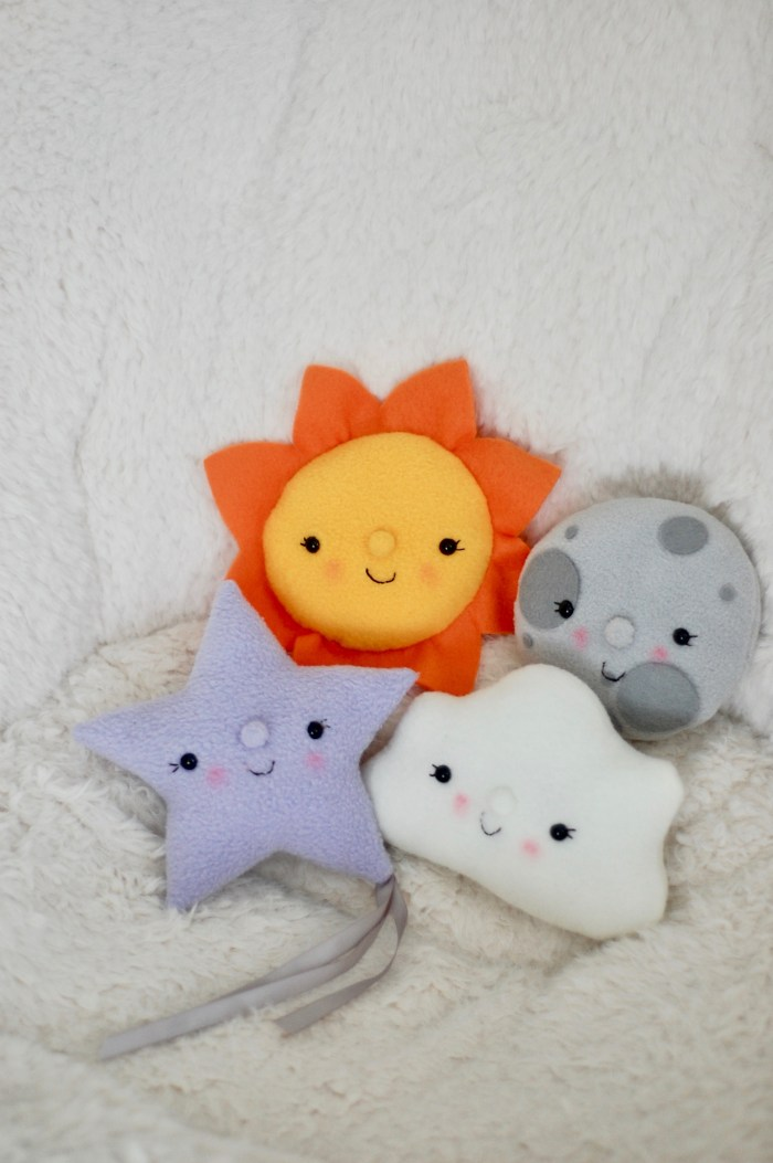 Plush sun moon star cloud