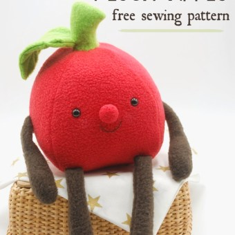Free Pattern: Plush Apple
