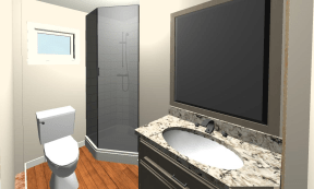 New bathroom layout.