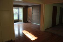 Looking into dining room