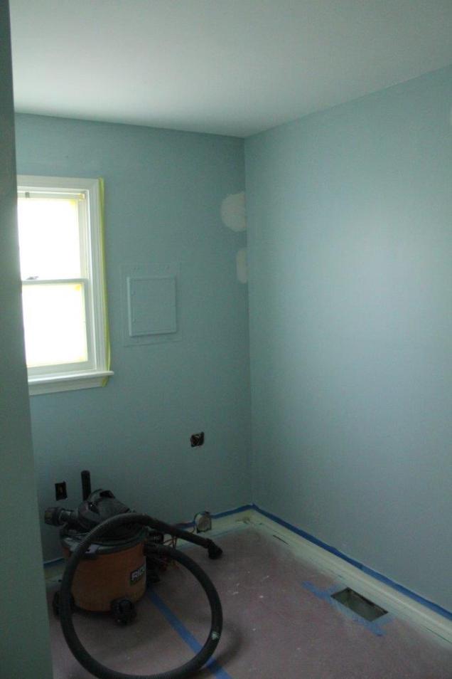 Light blue mud room